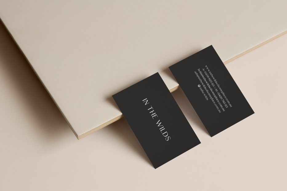 In the wilds business card design