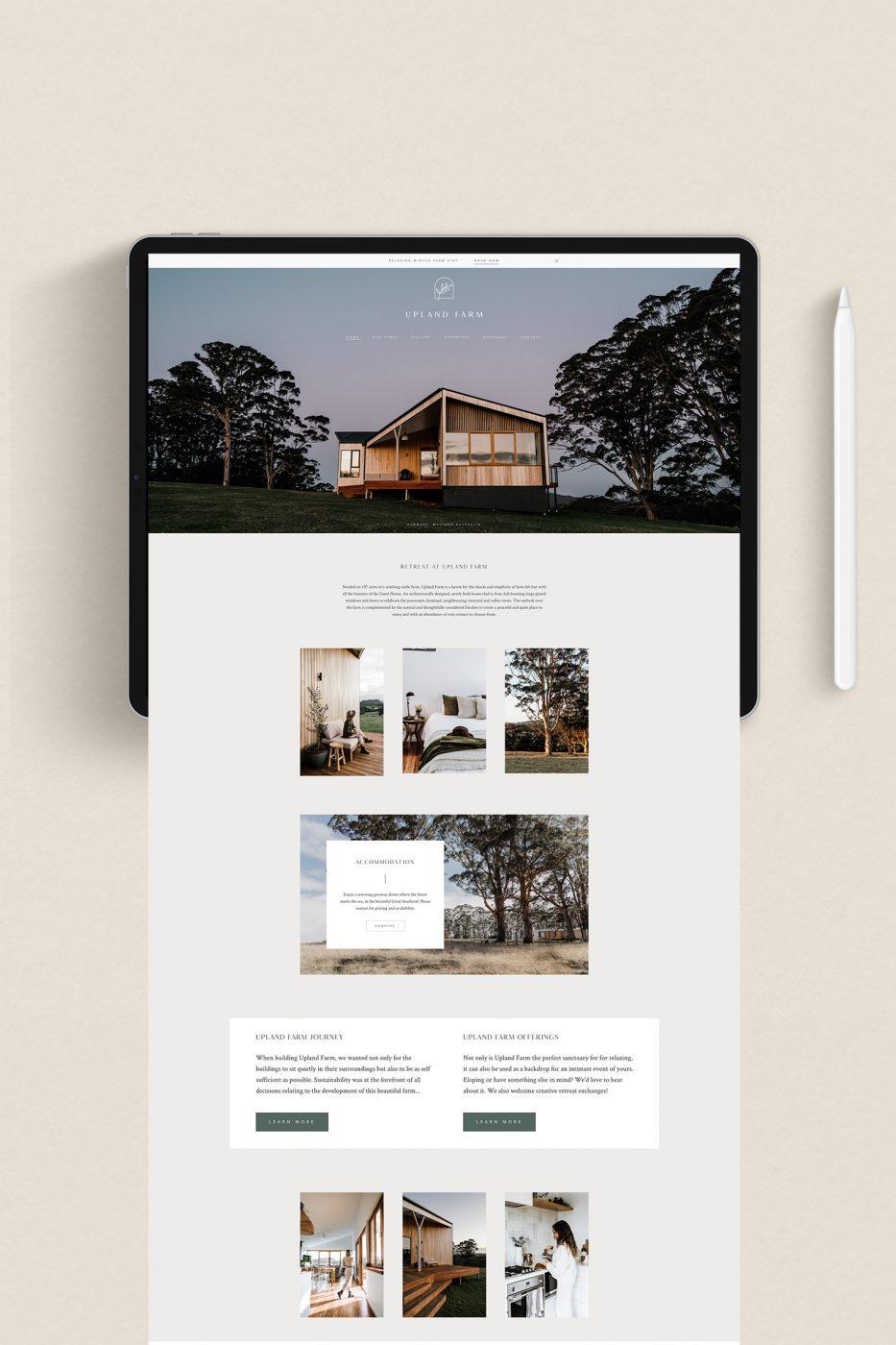 Upland Farm Website Design